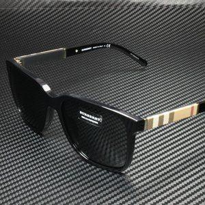 Burberry Black with Plaid 58mm Sunglasses